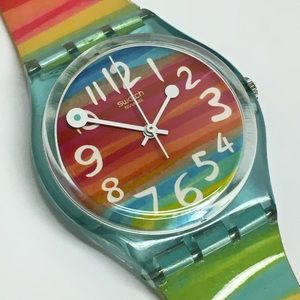 Rainbow Swatch Watch